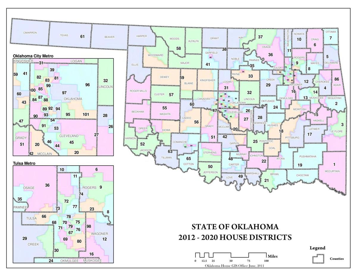 Oklahoma House districts map