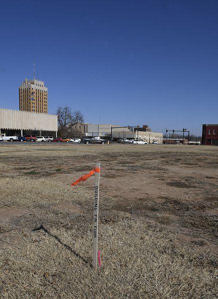 Downtown hotel work begins as surveyors stake layout