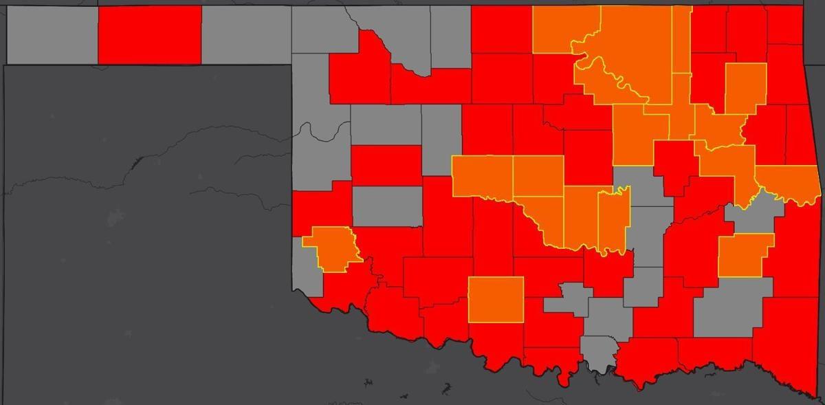 COVID-19 Oklahoma map 4.6.20