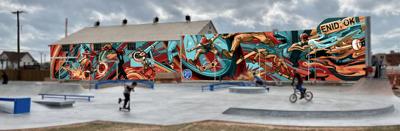 Skate park mural rendering