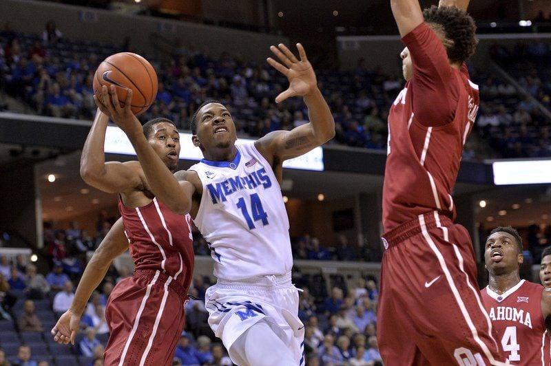 No. 8 Oklahoma beats Memphis 84-78