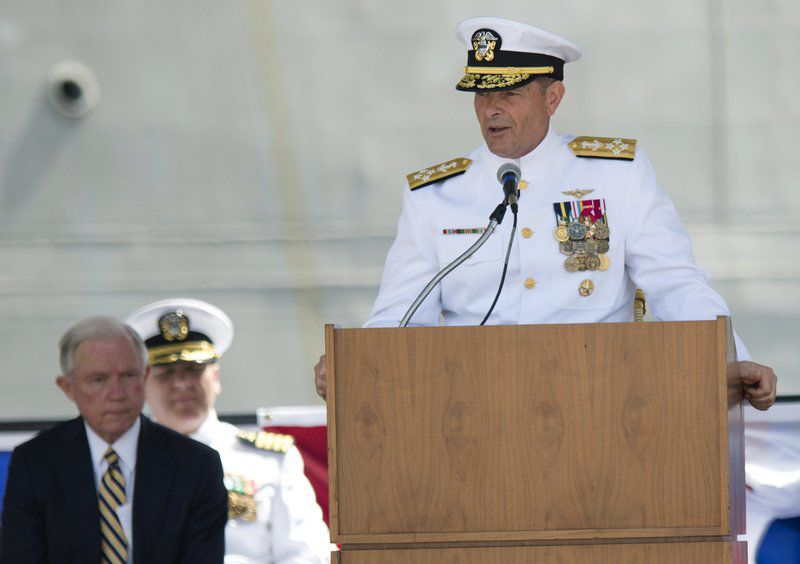 Admiral picked to lead Navy is retiring; bad judgment cited