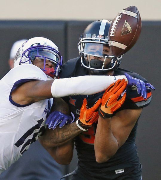 No. 12 Oklahoma State upsets No. 5 TCU 49-29 to stay ...
