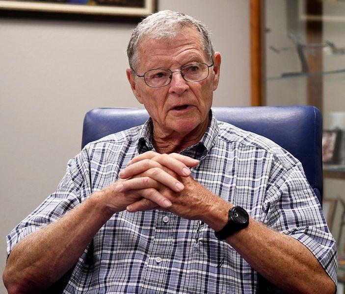 Inhofe discusses defense funding bill