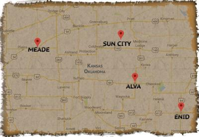 Outlaws travel through NW Okla , ending in a croquet clubbing in