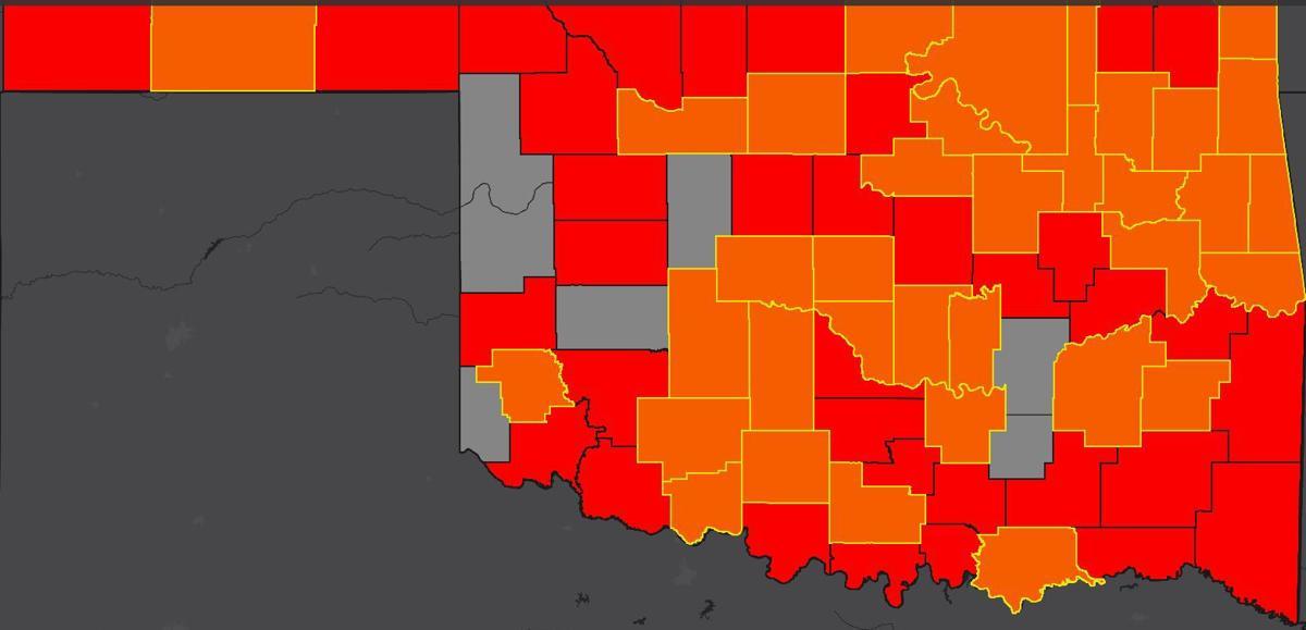 Oklahoma COVID-19 map 4.27.20