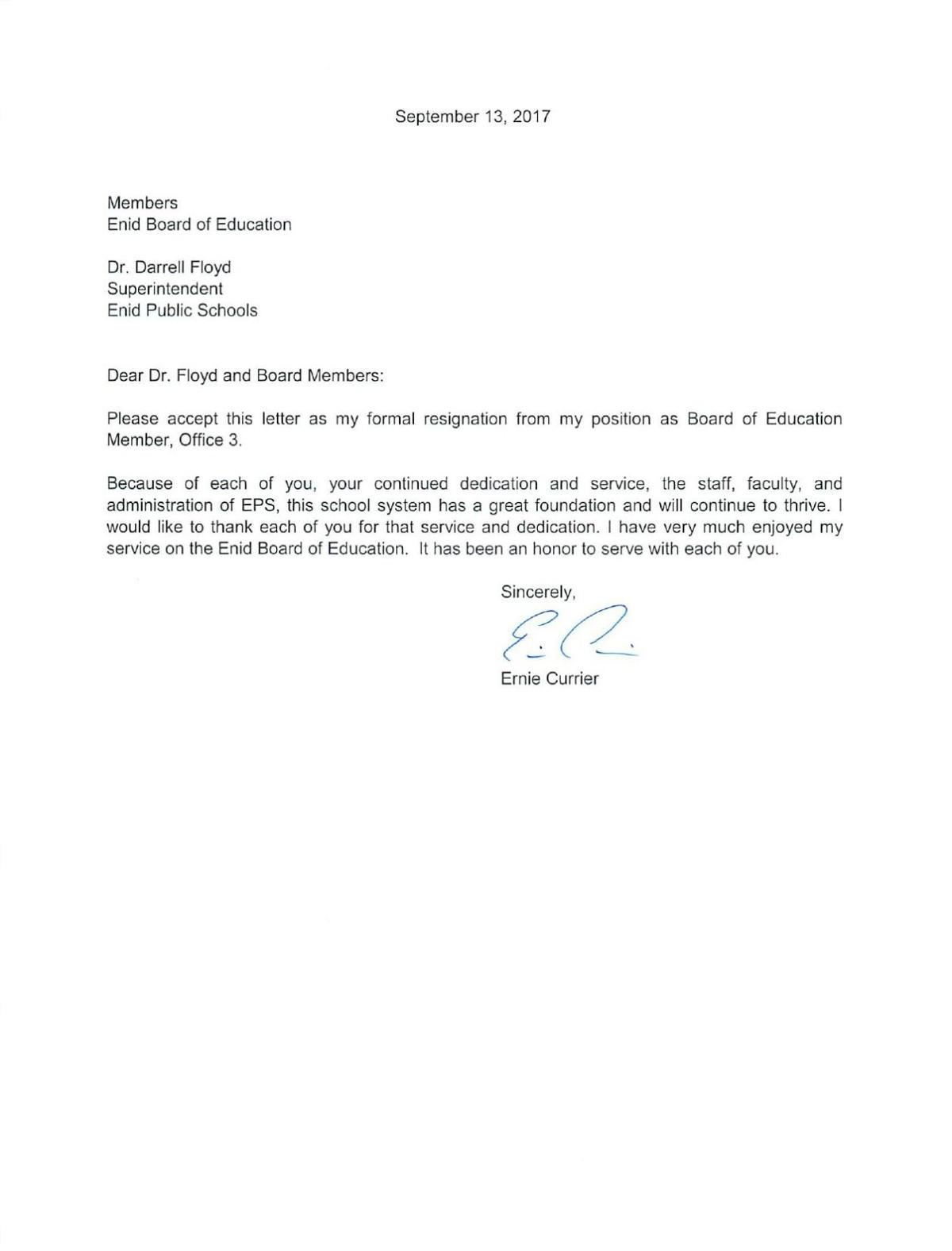 Sample Resignation Letter From Board Member from bloximages.chicago2.vip.townnews.com