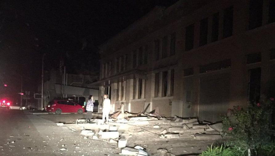 Earthquake damage in Cushing