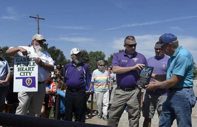 Garber recognized as a 'Purple Heart City'
