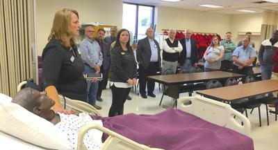 Donors meet simulated nursing patient