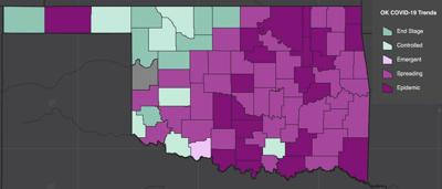 OSDH: 603 new COVID-19 cases in Oklahoma, 7 in Garfield County
