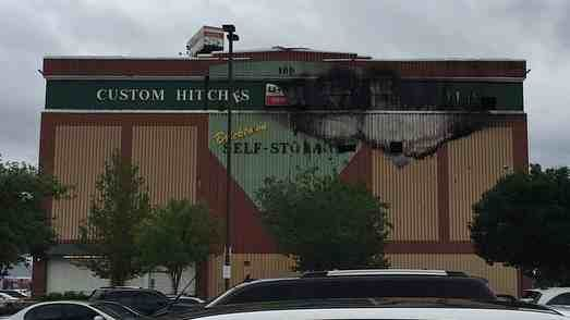 The U Haul Storage Facility In Downtown Oklahoma City Caught Fire Sunday  Morning.