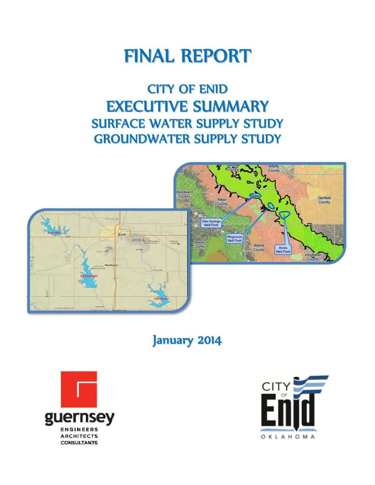 2014 City of Enid Final Report Water Study