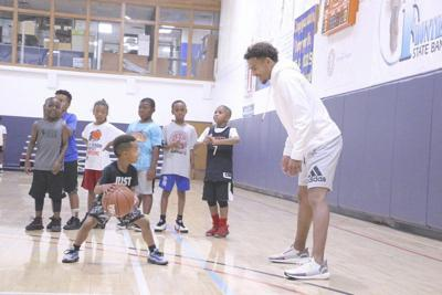 Trae Young hosts youth camp, discussesproductiverookie season