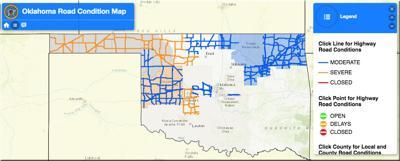 ODOT continuing to treat highways, bridges in snowy, frigid
