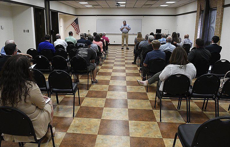 Lucas receives backlash from residents at town hall