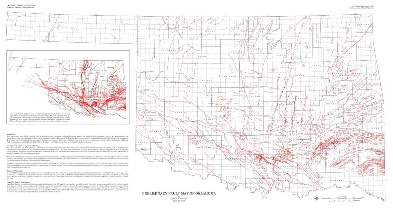 PRELIMINARY FAULT MAP OF OKLAHOMA | | enidnews.com