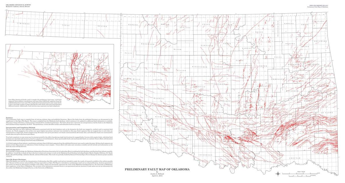 PRELIMINARY FAULT MAP OF OKLAHOMA | | enidnews.com