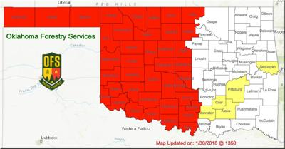 Fallin issues burn ban for 40 counties in western Oklahoma