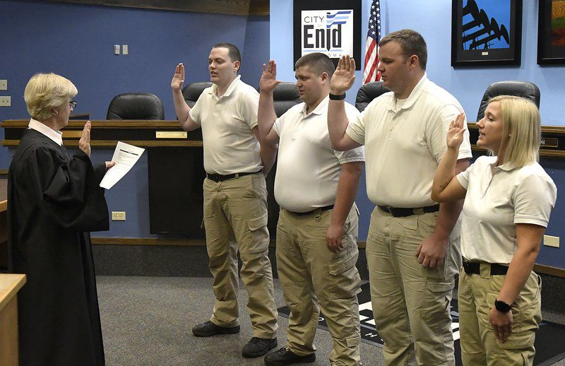 4 take oath, join ranks of Enid Police Department