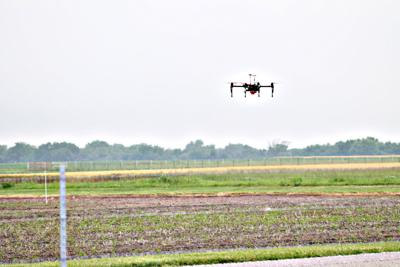 Drone Flying at Spring Crops Field Day