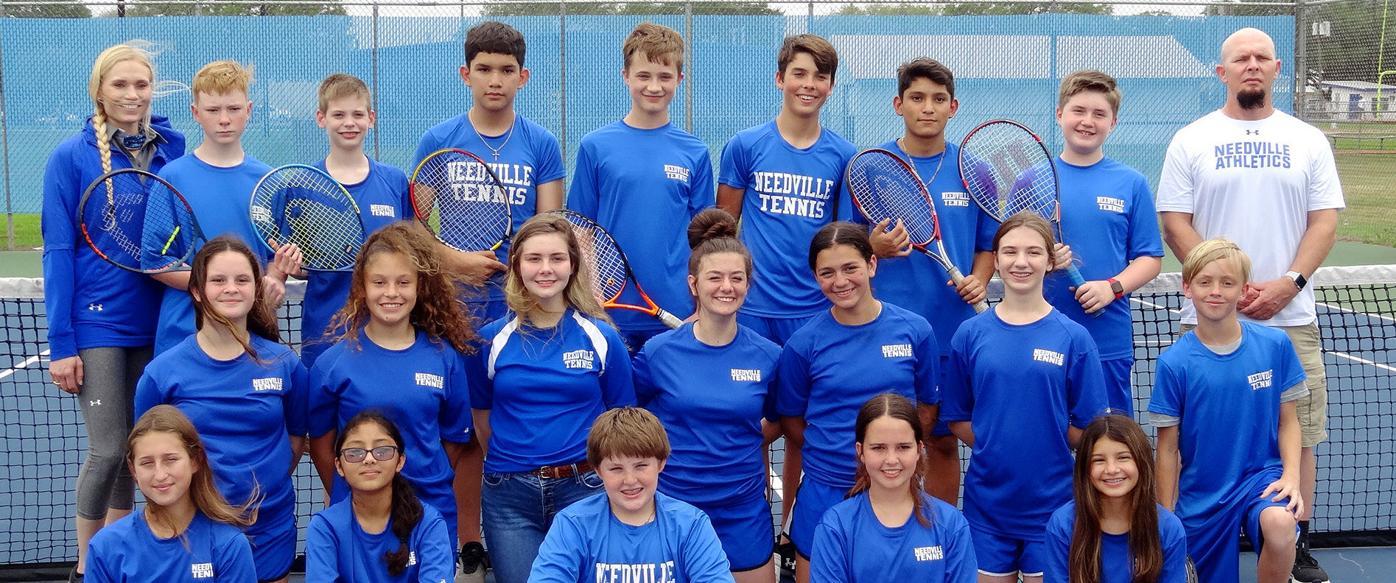 Needville junior high tennis players shine at district meet