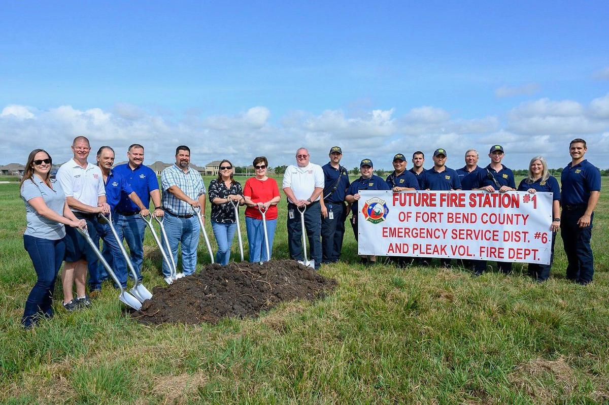 Breaking ground on Pleak VFD Station No. 1