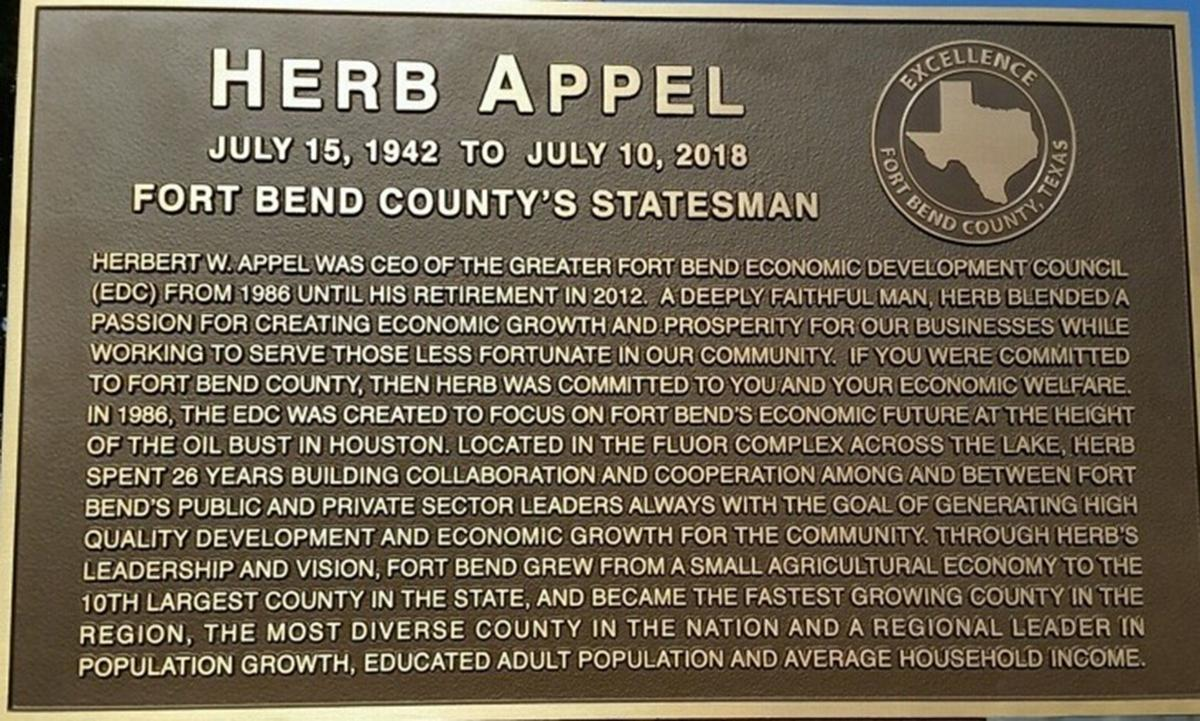 Appel is remembered with life-size statue