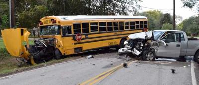 Truck collides with LCISD bus