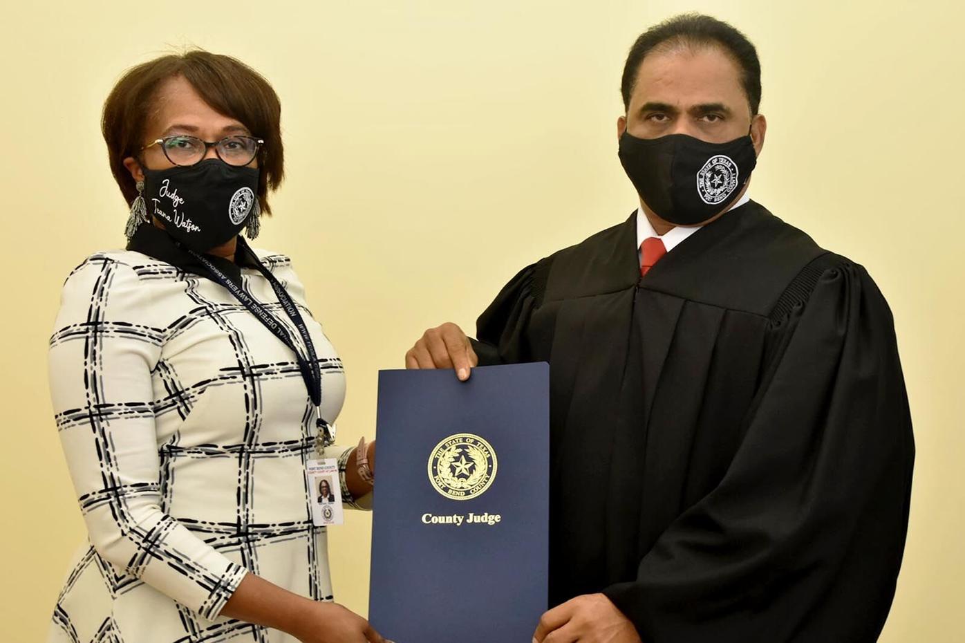Judge KP George and Judge Teana Watson