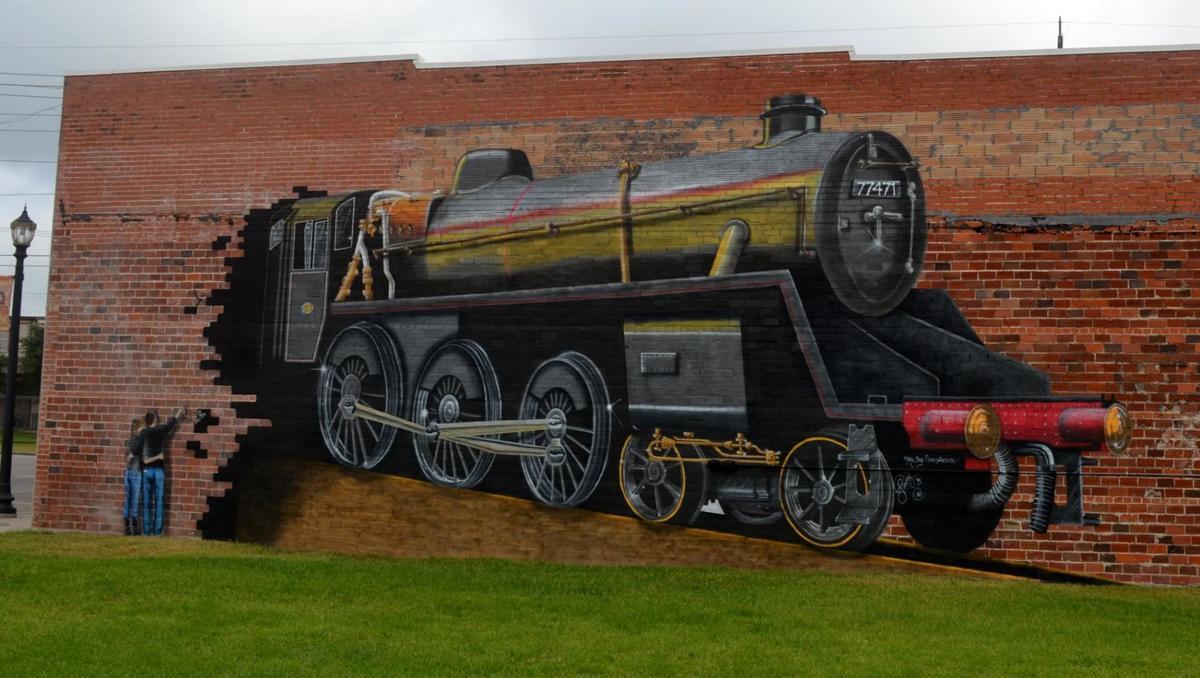 Paul Sanchez - Downtown Rosenberg mural