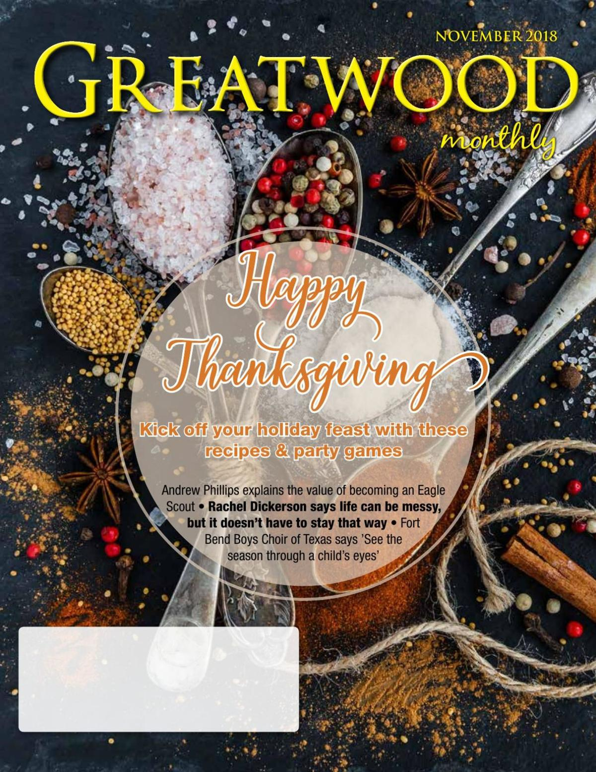 Greatwood Monthly: November 2018