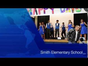 Getting down at Smith Elementary School