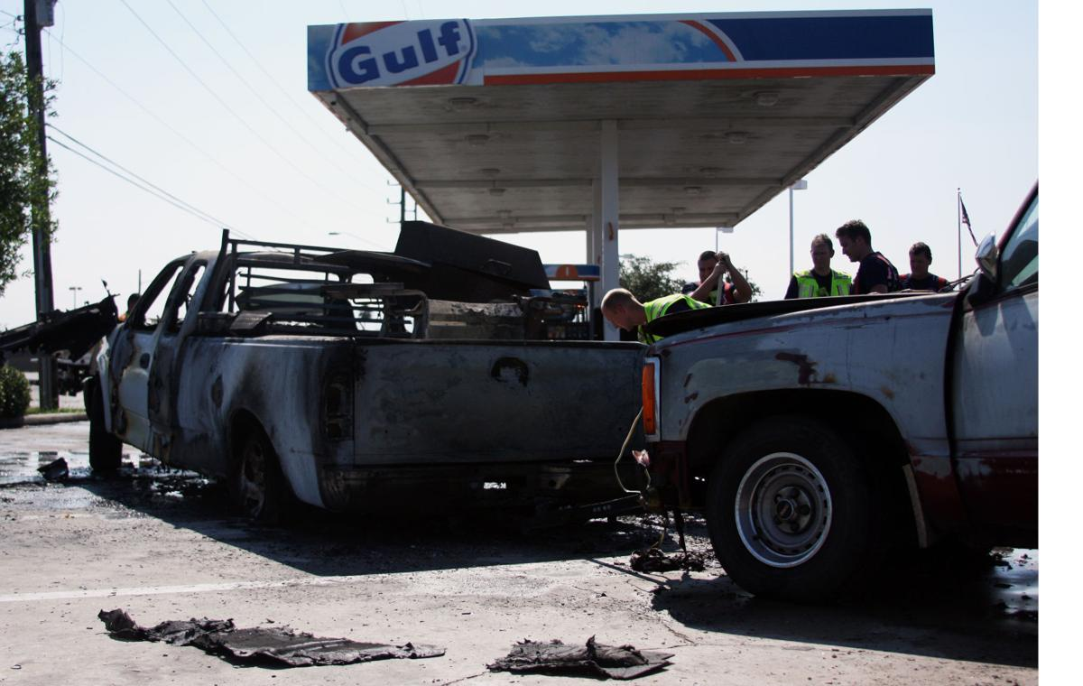 Three vehicles consumed by fire near gas pump | News