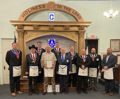 Wright honored by fellow masons