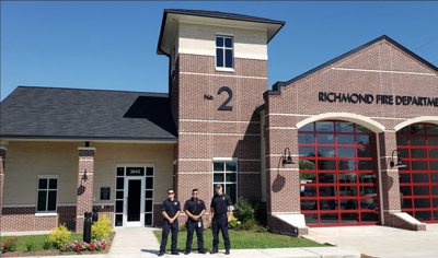 Richmond fire station No. 2 responding to calls