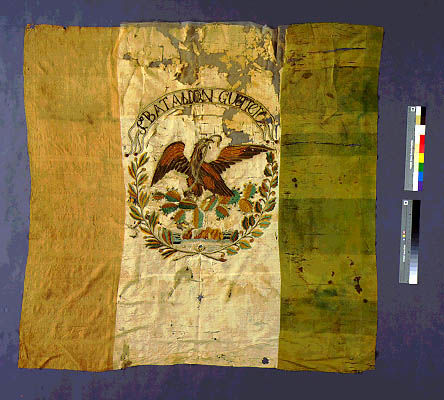 Texians captured 3 Mexican battle flags at the Battle of San Jacinto