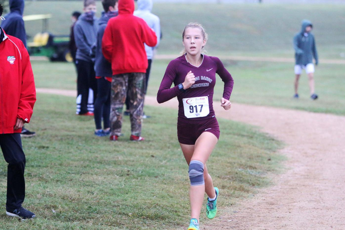 Freshman leads Longhorn girls in 20-6A meet