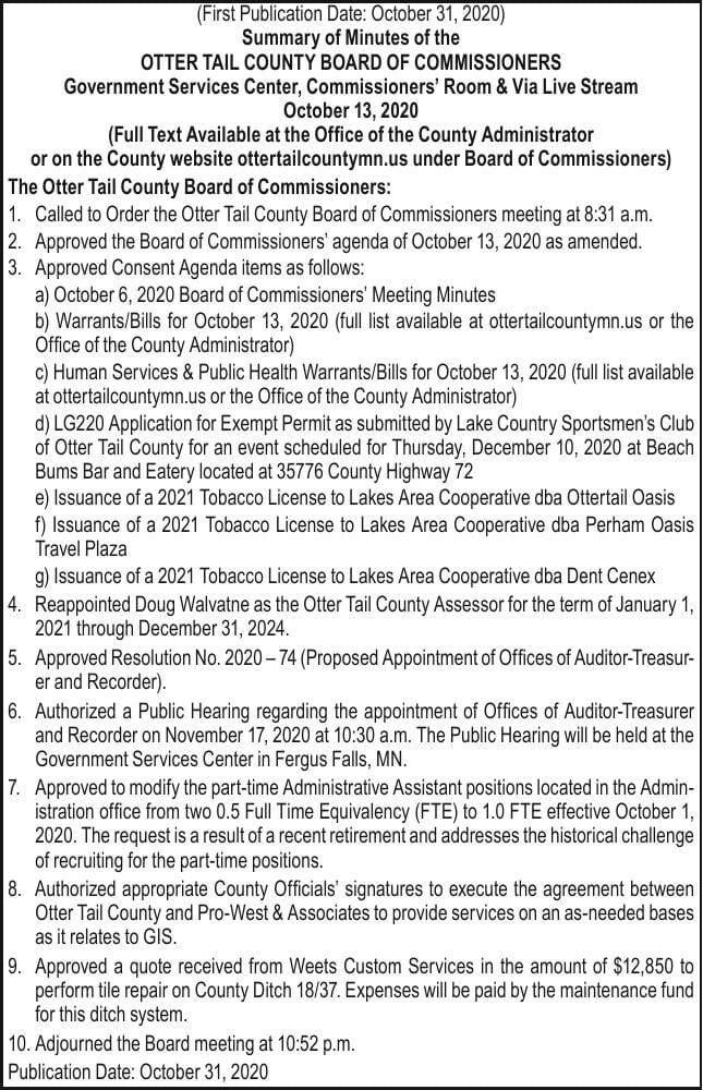 OTC - BOC 10/13 Meeting Summary