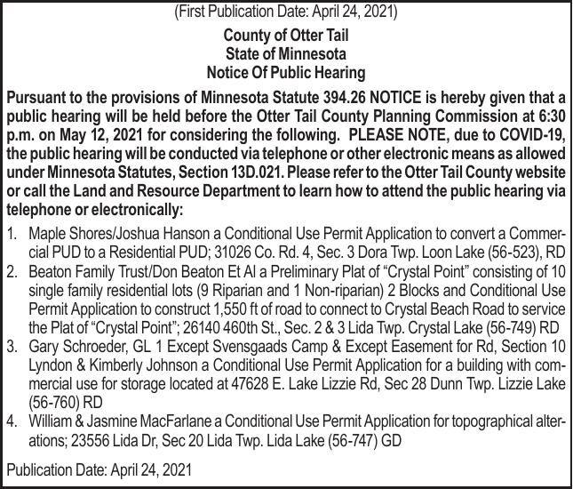 OTC Planning Commission 05.12 Meeting