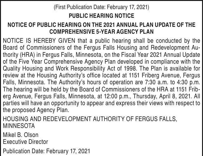 HRA - 2021 Annual Plan Update
