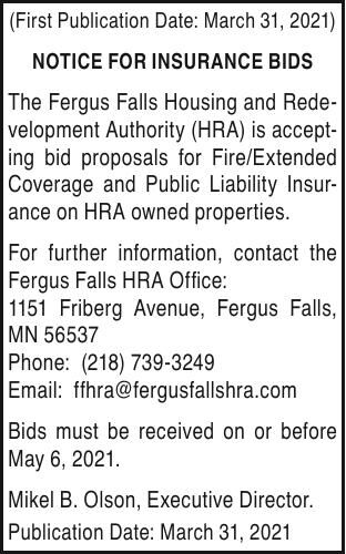 HRA - notice for Insurance Bids