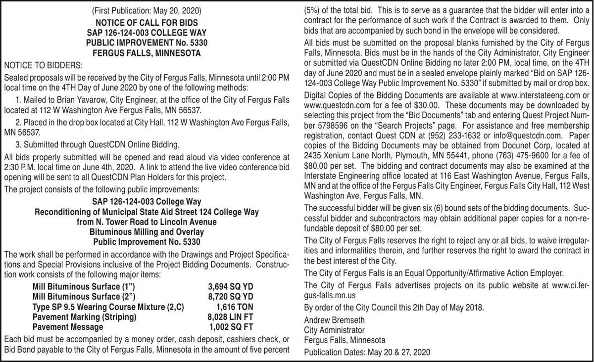 City of FF - Bids - SAP 126-124-003 (College Way)