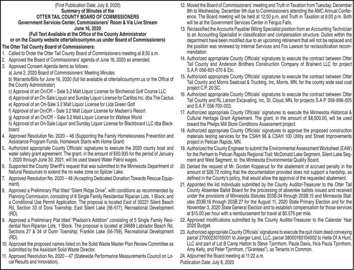 OTC BOC meeting summary 06.16.20