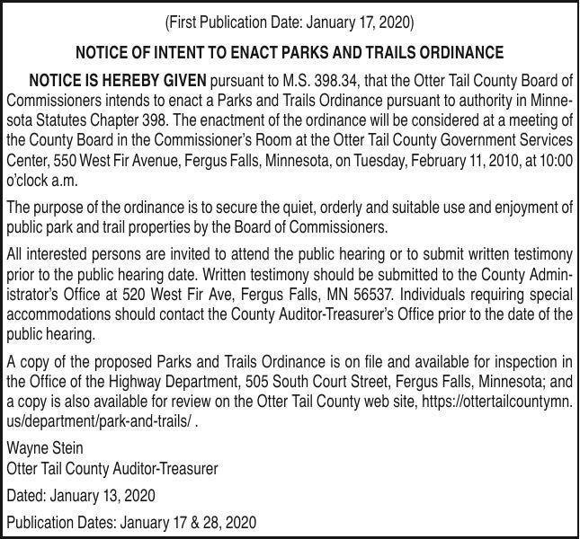 0117.OTC Parks & Trails Ordinance
