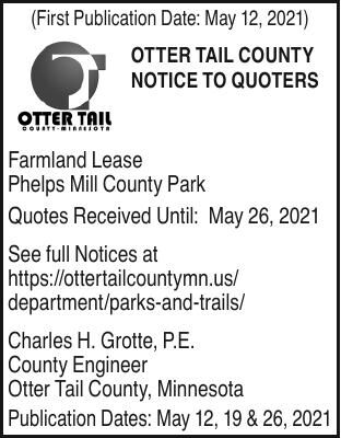 Notice to Bidders - Farmland Lease Phelps Mill