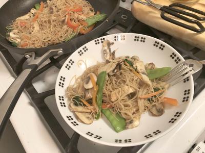 Asian food at home