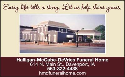 HALLIGAN-McCABE-DeVRIES FUNERAL HOME - Ad from 2016-11-04