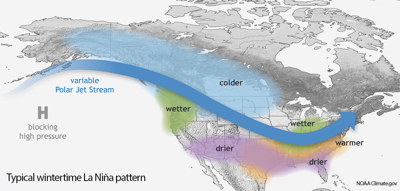 Colder, wetter conditions forecast for northern U.S.
