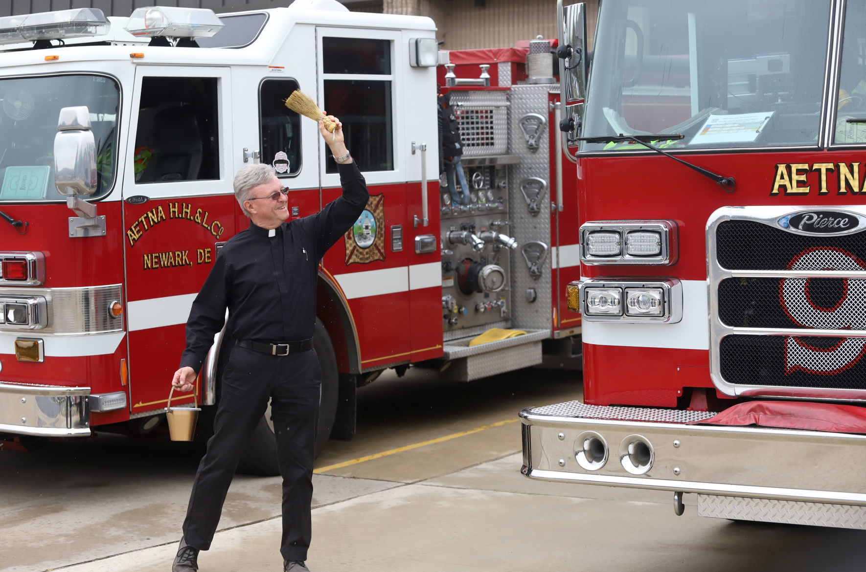 Aetna fire engines blessed on Feast of Saint Florian